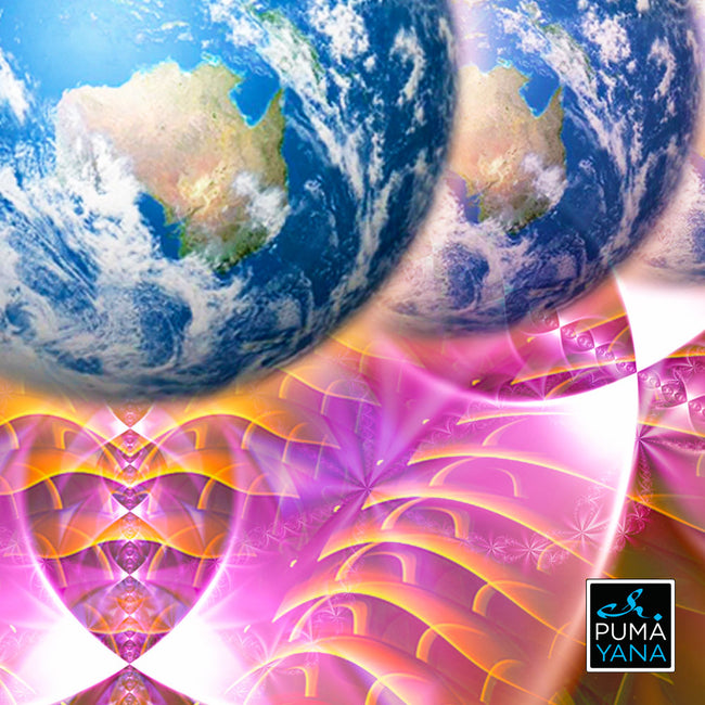 Gaiasension Cosmic Art Print | Canvas | Gaia | Meditation | Spiritual | Earth | Visionary | Consciousness| Art