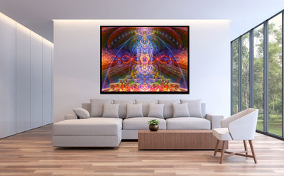 Cactiverse Cosmic Tapestry | Wall Hanging | Psychedelic| Ayahuasca| San Pedro| Gaia | Visionary | Psy | Art
