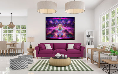 InnerVerse Tapestry | Wall Hanging | Conscious| Third Eye| Meditation | Spiritual | Pineal| Visionary | Yoga| Art