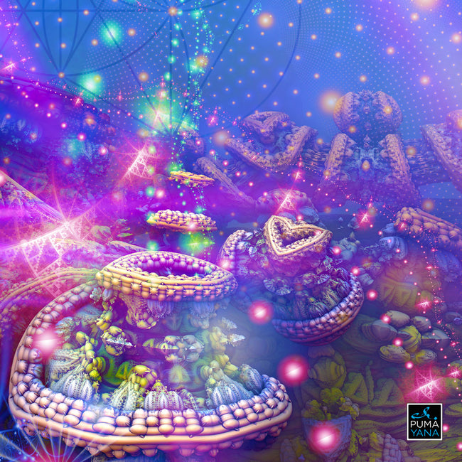 The Gates of Atlantis Cosmic Art Print | Canvas | Psychedelic| | | Earth | Visionary | Psy | Art