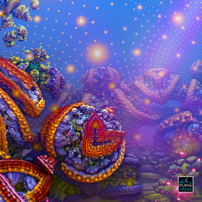 The Gates of Atlantis Cosmic Poster | Art Print | Psychedelic| | Spiritual | | Visionary | Psy | Art