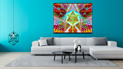 Travelling the Multiverse Cosmic Tapestry | Wall Hanging | Psychedelic| Ayahuasca| San Pedro| Sacred Geometry| Psy | Art