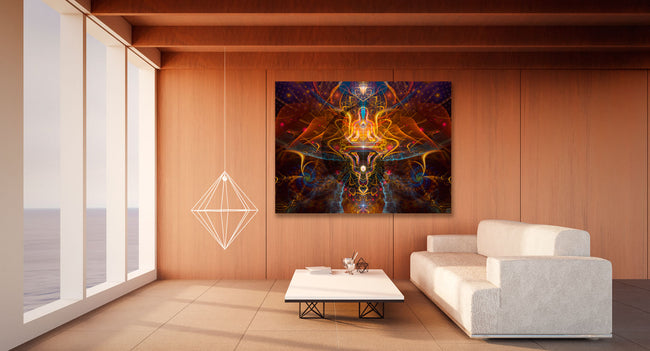 Ombre et Lumiere Cosmic Tapestry | Wall Hanging | Conscious| Meditation | Spiritual | Visionary | Yoga| Healing | Art