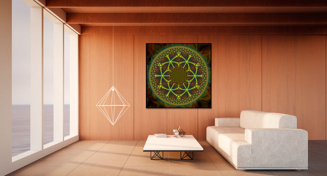 Trippy Psy Tapestry | Shamanic Wall Hanging | Psy Art | Mesca