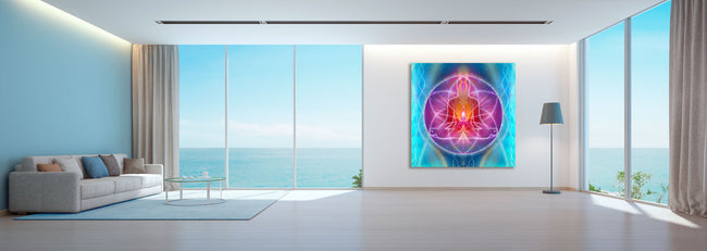 Violet Flame Ascension Mandala Tapestry | Wall Hanging | Mindfulness Gift | Meditation | Yoga | Spiritual | Healing | Art