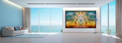 Atlan The King Tapestry | Wall Hanging | Totem| Meditation | Spiritual | Visionary | Lion| Healing | Art