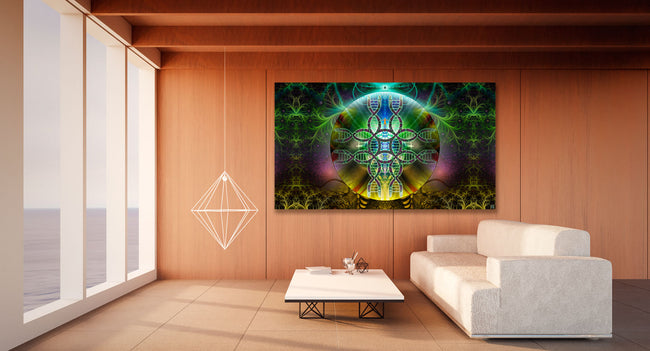 Human Alchemy Tapestry | Wall Hanging | Cosmic | Meditation | Spiritual | Visionary | Healing | Conscious | DNA| Art