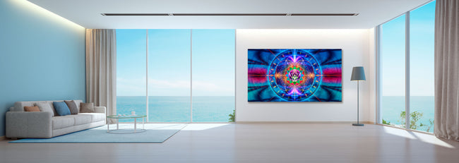 One Heart Tapestry | Wall Hanging | Cosmic| Meditation | Spiritual | Visionary | Healing | Conscious | Love | Art