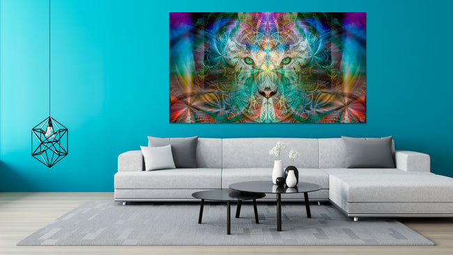 Sinha The Warrior Tapestry | Wall Hanging | Totem| Meditation | Spiritual | Visionary | Art