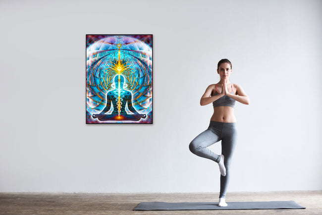 Galactic Body Art Print | Canvas | Gaia | Meditation | Spiritual | Earth | Visionary | Psy | Chakra Art
