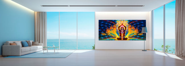 Noces Cosmiques Art Print | Canvas | Gaia | Meditation | Spiritual | Earth | Visionary | Psy | Chakra Art