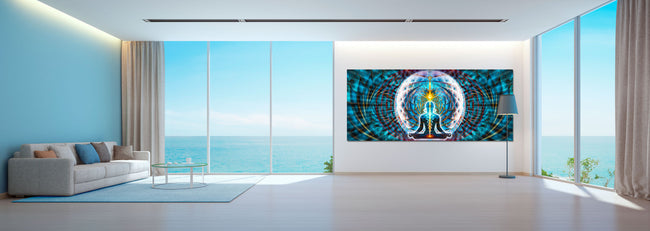 Noces Galactiques Art Print | Canvas | Gaia | Meditation | Spiritual | Earth | Visionary | Psy | Chakra Art