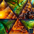 Noces Tantriques Art Print | Canvas | Gaia | Meditation | Spiritual | Earth | Visionary | Psy | Chakra Art