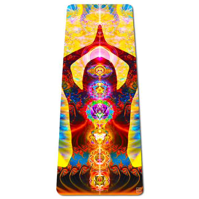 Cosmic Body Eco Yoga Mat | Thick | Natural | Best Hot Yoga Mat | Pilates | Non Slip 2 in 1 Mat + Towel | Free Strap
