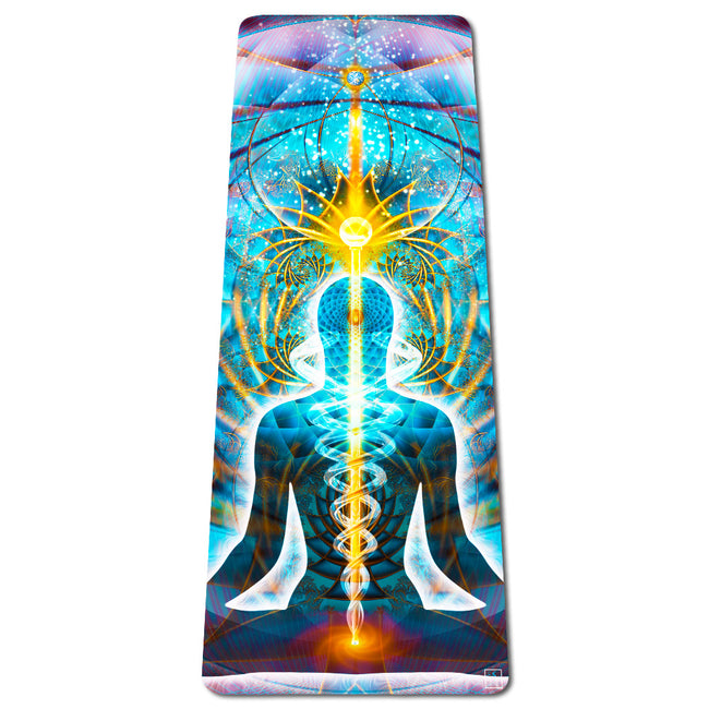 Galactic Body Eco Yoga Mat | Thick | Natural | Best Hot Yoga Mat | Pilates | Non Slip 2 in 1 Mat + Towel | Free Strap