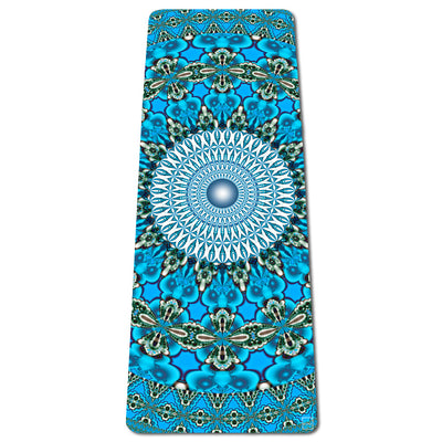 Whale Dreaming Eco Yoga Mat | Thick | Natural | Best Hot Yoga Mat | Pilates | Non Slip 2 in 1 Mat + Towel | Free Strap