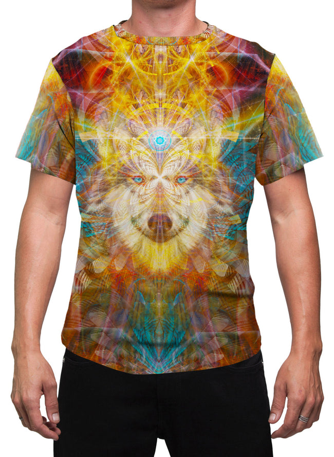 BeauWolf | Mens T-Shirt | Clothing | Wolf | Spiritual | Aesthetic | Yoga | Festival | Meditation | Gift | For Him | Animal Totem