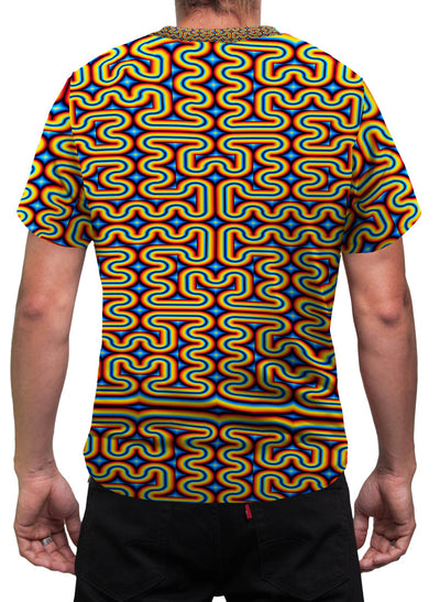 RainbowMaze | Mens T-Shirt | Clothing | Aesthetic | Festival | Psychedelic | Psy | Rave