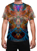 Shaman Animal| Mens T-Shirt | Clothing | Rave| Aesthetic | Yoga | Festival | Psychedelic |Gift | For Him