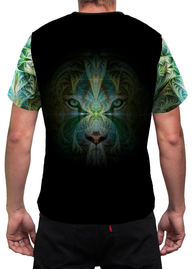 White Tiger Mens T-Shirt | Shamanic Animal Totem | Rave | Sinha Spirit