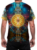 SunMatrix | Mens T-Shirt | Clothing | Spiritual | Aesthetic | Yoga | Festival | Meditation | Sacred Geometry | Cosmic