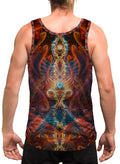 DarkMoon | Mens | Tank Top | Aesthetic | Clothing | Tanks | Psychedelic | Festival | Psy | Shaman