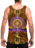 GoldenFlower | Mens | Tank Top | Sacred Geometry| Aesthetic | Clothing | Tanks | Psychedelic| Festival | Psy| Rave