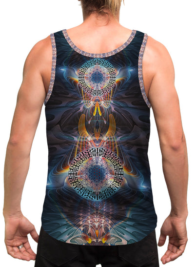 StarGates| Mens | Tank Top | Spiritual | Aesthetic | Clothing | Tanks | Rave| Psychedelic| Festival | Sacred Geometry| Cosmic
