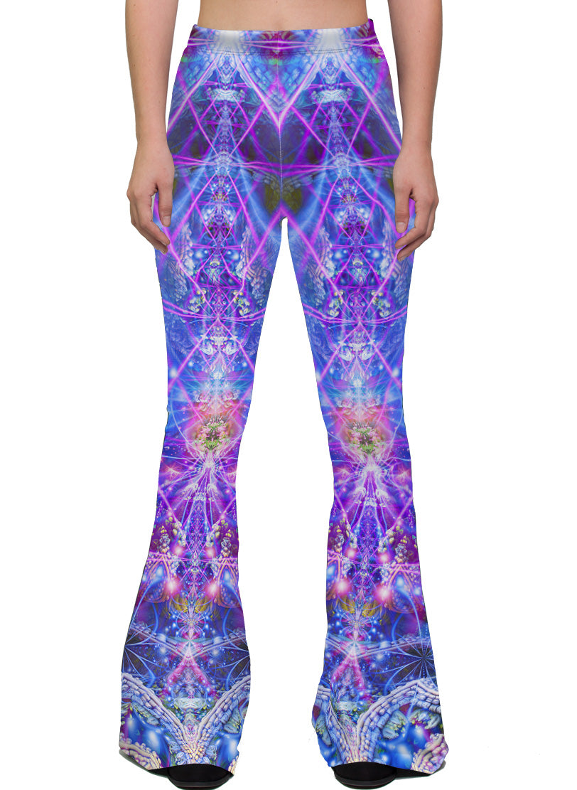 The Gates of Atlantis | Bell Bottoms | Womens | Pants | Leggings | Gaia | Festival | Rave | Outfit | Clothing | High Waisted |