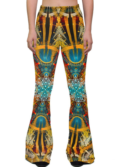 StarMatrix | Bell Bottoms | Womens | Pants | Leggings | Festival | Rave | Outfit | Clothing | High Waisted | Ayahuasca