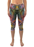 Gaiahuasca | Cropped | Leggings | Capri | Pants | Yoga | Workout | Gym | Festival | Rave | Outfit | Clothing | High Waisted | Fold Over |