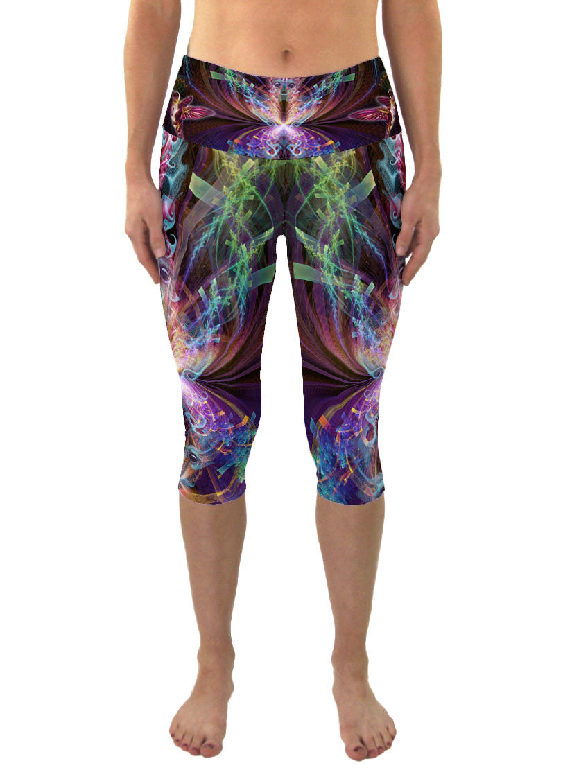 I See You | Cropped | Leggings | Capri | Pants | Yoga | Workout | Gym | Festival | Rave | Outfit | Clothing | High Waisted | Psychedelic