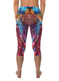 Phoenix Rising | Capri | Leggings | Cropped | Pants | Yoga | Workout | Gym | Festival | Rave | Outfit | Clothing | High Waisted | Fold Over