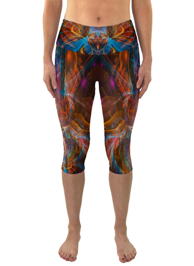 Shamanimal | Cropped | Leggings | Capri | Pants | Yoga | Workout | Gym | Festival | Rave | Outfit | Clothing | High Waisted | Shaman