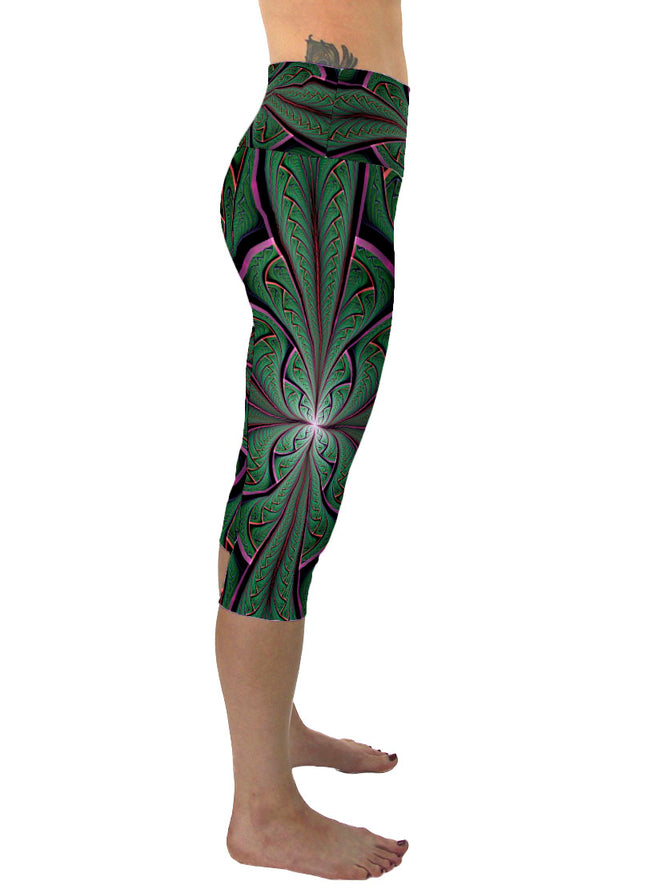 Shamazonia | Cropped | Leggings | Capri | Pants | Yoga | Workout | Gym | Festival | Rave | Outfit | Clothing | High Waisted | Shaman |