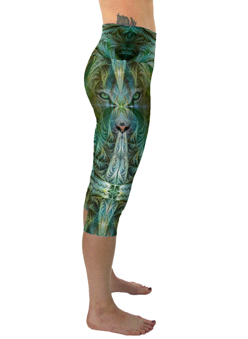 White Tiger Sinha | Cropped | Leggings | Capri | Pants | Yoga | Workout | Gym | Festival | Rave | Outfit | Clothing | High Waisted | Shaman