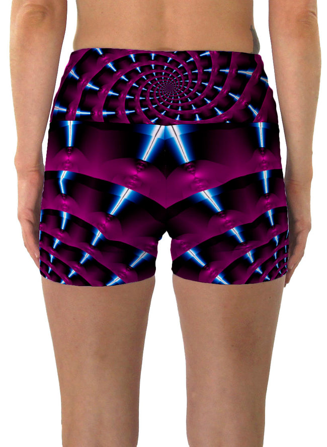 Epsilon | Shorts | Yoga | Workout | Gym | Festival | Rave | Outfit | Clothing | High Waisted | Fold Over | Aesthetic | Psychedelic