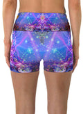 Gates of Atlantis | Shorts | Yoga | Workout | Gym | Festival | Rave | Outfit | Clothing | High Waisted | Fold Over | Aesthetic | Psychedelic