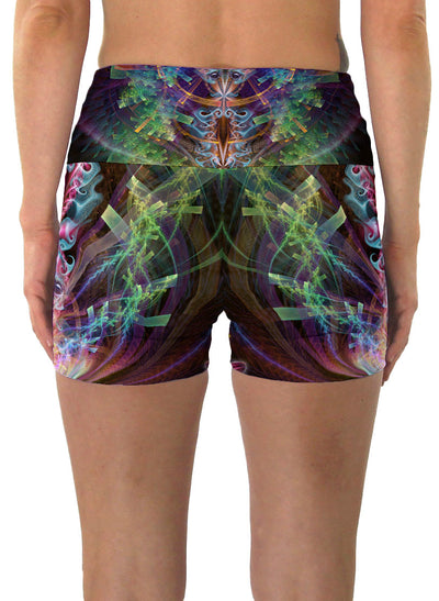 I See You | Shorts | Yoga | Workout | Gym | Festival | Rave | Outfit | Clothing | High Waisted | Fold Over | Shaman|