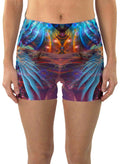 Phoenix Rising | Shorts | Yoga | Workout | Gym | Festival | Rave | Outfit | Clothing | High Waisted | Phoenix | Shaman|
