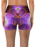 Sacred Flower| Shorts | Yoga | Workout | Gym | Festival | Rave | Outfit | Clothing | High Waisted | Flower of Life | Sacred Geometry| Psychedelic