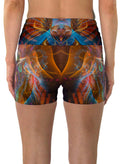 Shamanimal | Shorts | Yoga | Workout | Gym | Festival | Rave | Outfit | Clothing | High Waisted | Fold Over | Shaman|