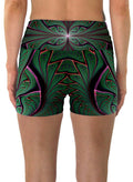 Shamazonia | Shorts | Yoga | Workout | Gym | Festival | Rave | Outfit | Clothing | High Waisted | Fold Over | Shaman|