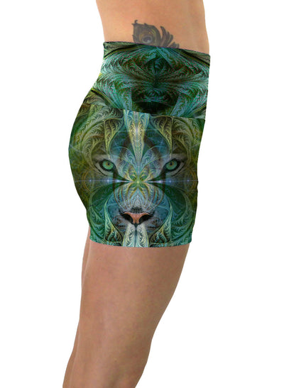 White Tiger Sinha | Shorts | Yoga | Workout | Gym | Festival | Rave | Outfit | Clothing | High Waisted | Totem| Shaman|