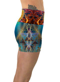 SunMatrix| Shorts | Yoga | Workout | Gym | Festival | Rave | Outfit | Clothing | High Waisted | Flower of Life | Sacred Geometry| Psychedelic