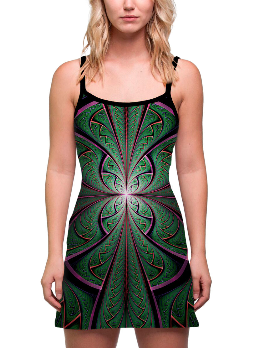 Shamazonia| Dress | Tank | Mini | Festival | Rave | Outfit | Clothing | Aesthetic | Eco | Hippy | | Burning Man | Psychedelic