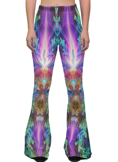TrippinJaguar | Bell Bottoms | Womens | Pants | Leggings | Festival | Rave | Outfit | Clothing | High Waisted | Psychedelic