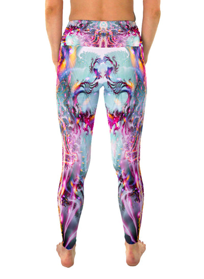 Awakening | Leggings | Pants |Yoga | Workout | Gym | Festival | Rave | Outfit | Clothing | High Waisted | Fold Over | Aesthetic | Eco