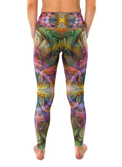 Gaiahuasca | Leggings | Pants | Yoga | Workout | Gym | Festival | Rave | Outfit | Clothing | High Waisted | Fold Over | Aesthetic | Ayahuasca