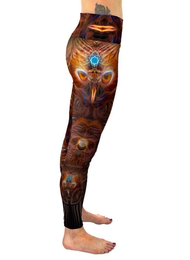 Nina Chusiqa | Leggings | Pants | Yoga | Workout | Gym | Festival | Rave | Outfit | Clothing | High Waisted | Fold Over | Aesthetic | Owl